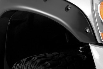 Stampede® 8421-2 - Ruff Riderz™ Front and Rear Smooth Black Fender Flares