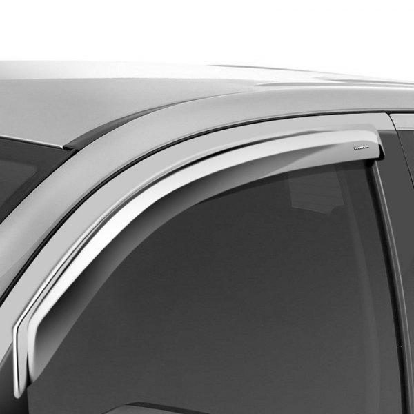 Stampede 60120-8 Tape-Onz Sidewind Deflector for Chevrolet//GMC 2-Door Chrome
