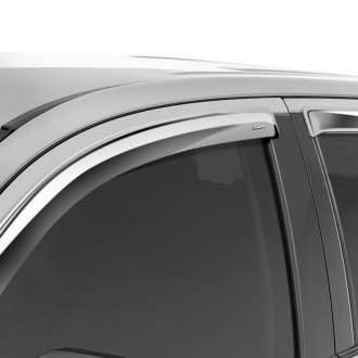 Stampede® - Tape-Onz™ Chrome Front and Rear Sidewind Deflectors