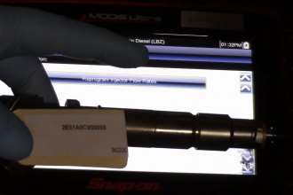 Duramax Flow Rate Injector Quantity Adjustment Programming with Snap on Scan Rool