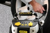 Stanley® - 500 Amp Jump Starter with Compressor in Use