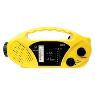 Stansport® - Compact Crank Solar Battery Radio with Flashlight