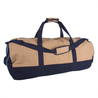 Stansport® - Two-Tone Canvas Duffle Bag with Zipper