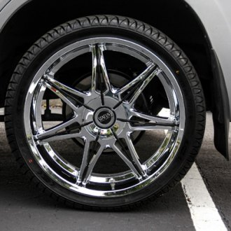 STATUS® - CROWN Chrome Wheels on Lexus LX470