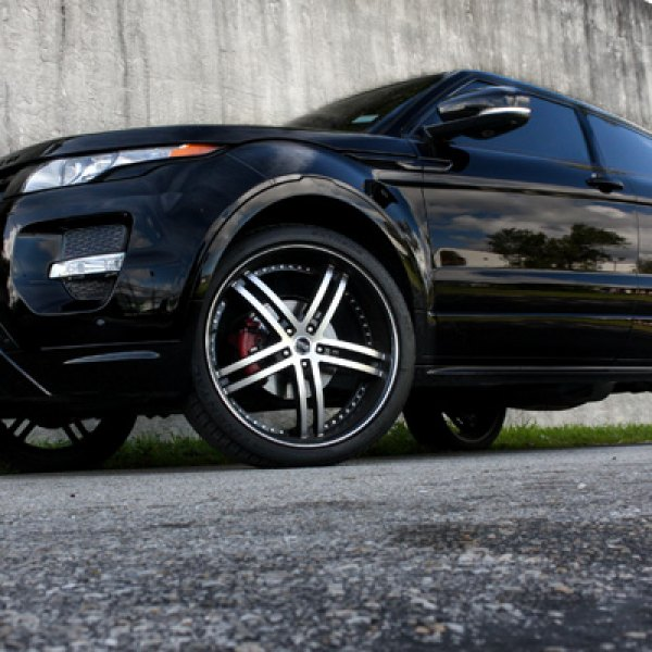 STATUS® - KNIGHT Black with Machined Face on Land Rover Range Rover Evoque