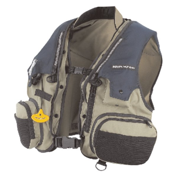 Stearns® - 33 Gram 3F Navy/Taupe X-Large Manual Inflatable Vest