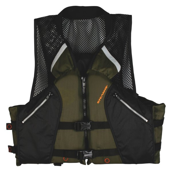 Stearns® - Comfort Series™ X-Large Black/Green Collared AnglerVest