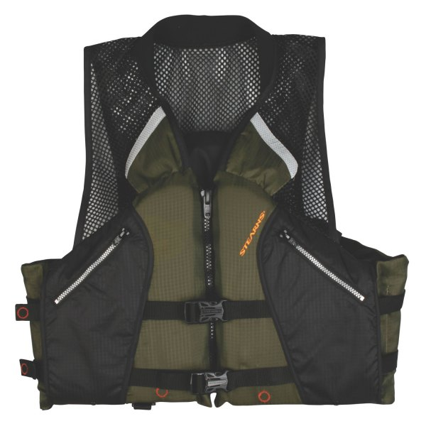 Stearns® - Comfort Series™ Small Black/Green Collared Angler Vest