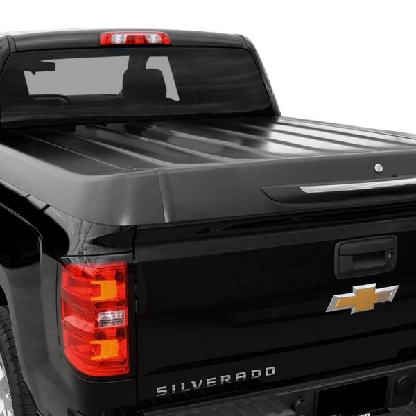 Image may not reflect your exact vehicle! Steel Force® - Hinged Tonneau Cover, Closed