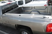 Image may not reflect your exact vehicle! SteelCraft® - Stainless Steel Bed Rails - Installed