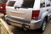 SteelCraft® - Double Tube Black Powdercoat Rear Bumper Guard - Installed