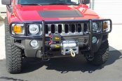 SteelCraft® - Black Grille Guard with Winch Mount Installed