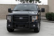 SteelCraft® - Black Grille Guard Installed