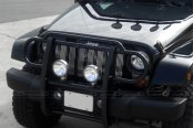 Image may not reflect your exact vehicle! SteelCraft® - Black Powdercoat Grille Guard - Installed