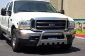 "SteelCraft® - 3"" Polished Bull Bar with Skid Plate Installed"