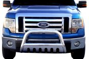 "Image may not reflect your exact vehicle! SteelCraft® - 3"" Stainless Steel Bull Bar - Installed"