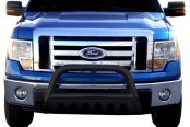"Image may not reflect your exact vehicle! SteelCraft® - 3"" Black Powdercoat Bull Bar - Installed"