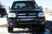 "SteelCraft® - 3"" Black Bull Bar with Skid Plate Installed"