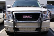 Image may not reflect your exact vehicle! SteelCraft® - Black Grille Guard Installed