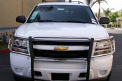 Image may not reflect your exact vehicle! SteelCraft® - Polished Grille Guard Installed