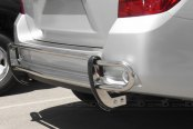 Image may not reflect your exact vehicle! SteelCraft® - Double Tube Stainless Steel Rear Bumper Guard - Installed