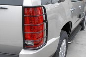 SteelCraft® - Black Powdercoat Tail Light Guards - Installed