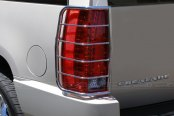 Image may not reflect your exact vehicle! SteelCraft® - Stainless Steel Tail Light Guards - Installed