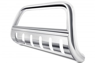 "SteelCraft® - 3"" Polished Bull Bar with Skid Plate"