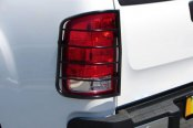Image may not reflect your exact vehicle! SteelCraft® - Black Powdercoat Tail Light Guards - Installed