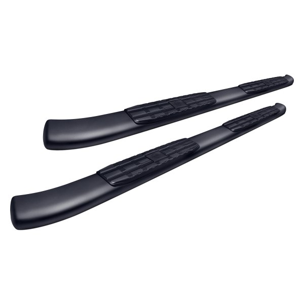 "SteelCraft® - 4"" Blackout Series Black Oval Side Bars"