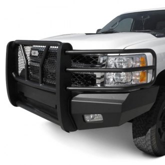 SteelCraft® - Elevation Series™ Full Width Black Front HD Bumper with Grille Guard