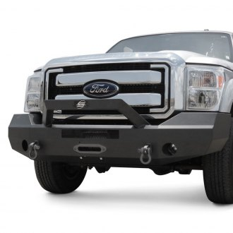 SteelCraft® - Elevation Series™ Bull Nose Full Width Black Front HD Bumper with Hoop
