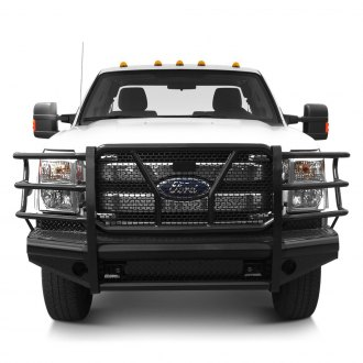 SteelCraft® - Full Width Black Front HD Bumper with Grille Guard