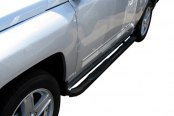 "Image may not reflect your exact vehicle! SteelCraft® - 3"" Round Black Side Bars - Installed"