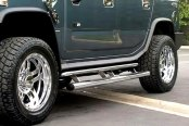 "SteelCraft® - 4"" Straight Stainless Steel Oval Side Bars - Installed"