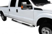 "SteelCraft® - 4"" Premium Stainless Steel Oval Side Bars with Stainless Mounting Brackets - Installed"