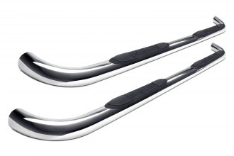 "Image may not reflect your exact vehicle! SteelCraft® - 3"" Polished Round Side Bars"