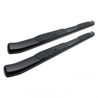 "SteelCraft® - 4"" 4X Series Wheel-to-Wheel Black Oval Side Bars"