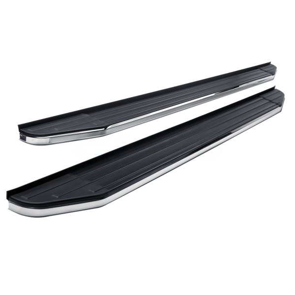 Image may not reflect your exact vehicle! SteelCraft® - STX100 Series Black Running Boards
