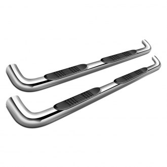 "SteelCraft® - 4"" Premium Cab Length Polished Oval Side Bars"