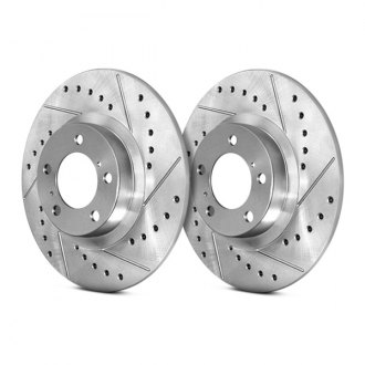StopTech® - Select Sport Drilled and Slotted Solid 1-Piece Front Brake Rotor