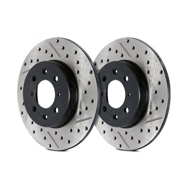 STOPTECH DRILLED /& SLOTTED BRAKE ROTORS REAR