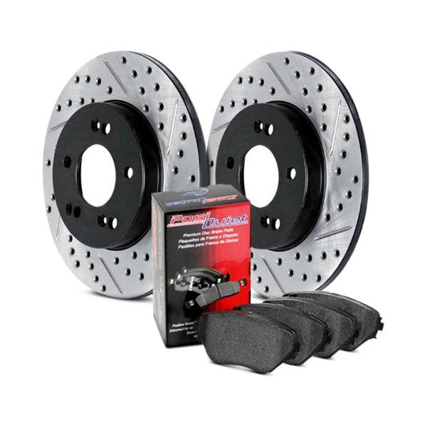 StopTech 938.51504 Street Axle Pack Drilled and Slotted Rear Brake Kit