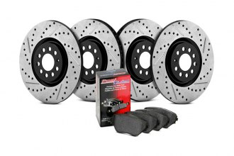 StopTech® - Street Drilled and Slotted Front and Rear Brake Kit