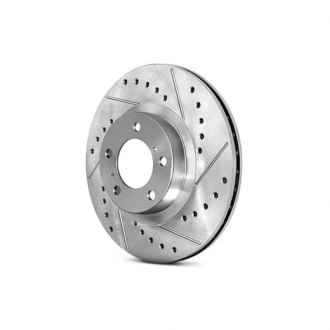 StopTech® - Select Sport Drilled and Slotted Vented 1-Piece Front Driver Side Brake Rotor