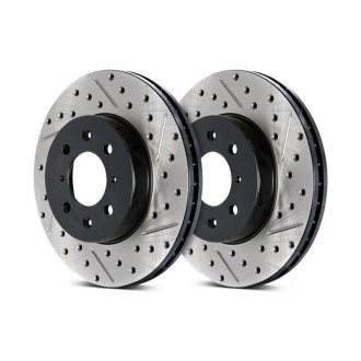 StopTech® - Sport Drilled and Slotted Vented 1-Piece Front Brake Rotor