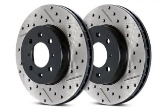 StopTech® - Sport Drilled and Slotted 1-Piece Front Brake Rotor