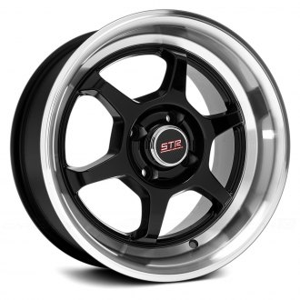 STR-RACING® - STR501 Black with Machined Lip