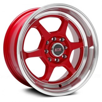 STR-RACING® - STR501 Red with Machined Lip
