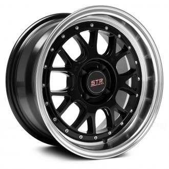 STR-RACING® - STR502 Black with Machined Lip